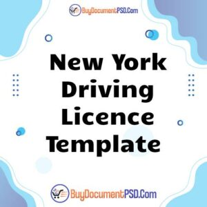 Buy New York Driving Licence Template