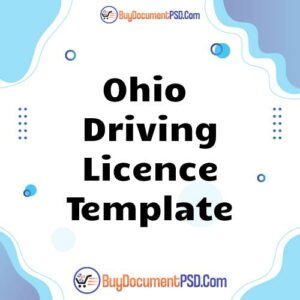 Buy Ohio Driving Licence Template