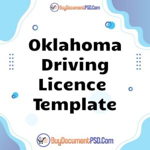 Buy Oklahoma Driving Licence Template