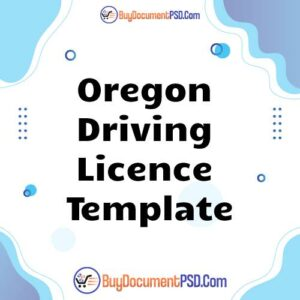 Buy Oregon Driving Licence Template