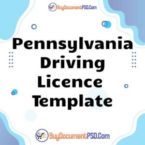Buy Pennsylvania Driving Licence Template