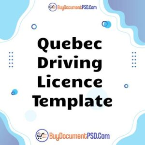 Buy Quebec Driving Licence Template