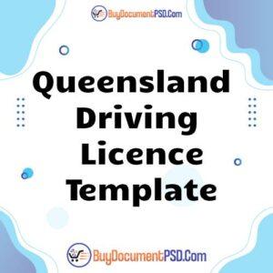 Buy Queensland Driving Licence Template