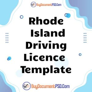 Buy Rhode Island Driving Licence Template