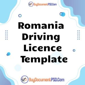 Buy Romania New Driving Licence Template