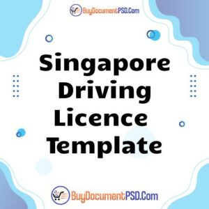 Buy Singapore Driving Licence Template