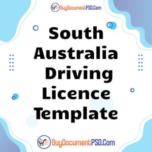 Buy South Australia Driving Licence Template