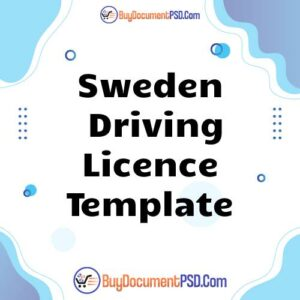 Buy Sweden Driving Licence Template
