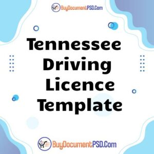 Buy Tennessee Driving Licence Template