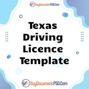 Buy Texas Driving Licence Template