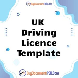 Buy UK Driving Licence Template