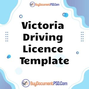 Buy Victoria Driving Licence Template