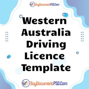 Buy Western Australia Driving Licence Template
