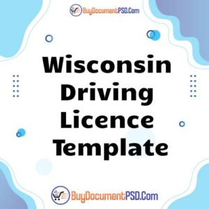 Buy Wisconsin Driving Licence Template