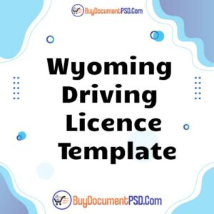 Buy Wyoming Driving Licence Template