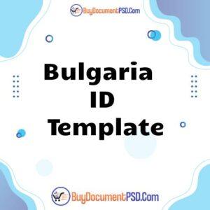 Buy Bulgaria ID Template