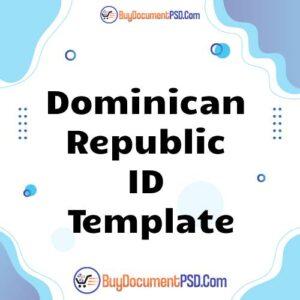 Buy Dominican Republic ID Template