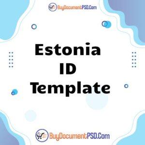 Buy Estonia ID Template