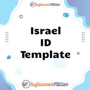 Buy Israel ID Template