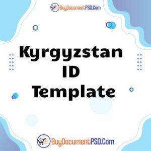 Buy Kyrgyzstan ID Template