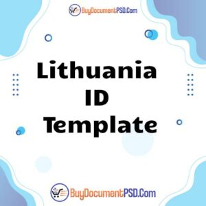 Buy Lithuania ID Template