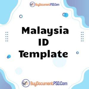 Buy Malaysia ID Template