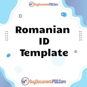 Buy Romanian ID Template