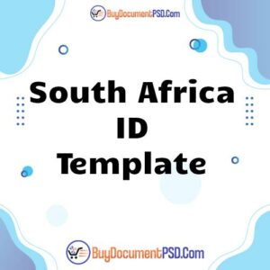 Buy South Africa ID Template