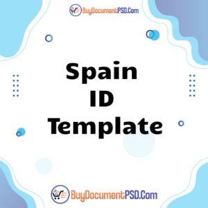 Buy Spain ID Template