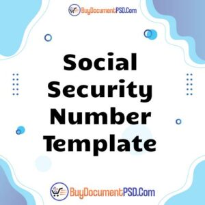 Buy Social Security Number Template
