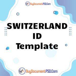 Buy Switzerland ID Template