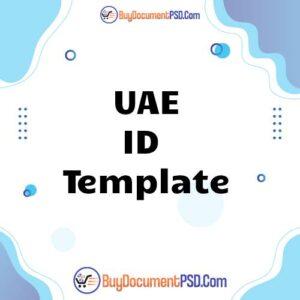Buy UAE ID Template