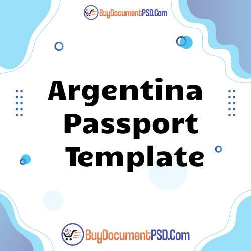 Buy Argentina Passport Template