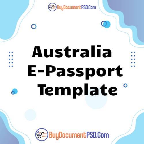Buy Australia E-Passport Template