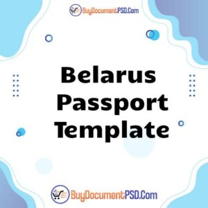 Buy Belarus Passport Template