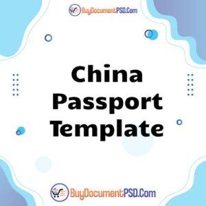 Buy China Passport Template