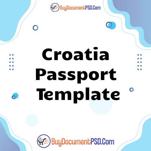 Buy Croatia Passport Template