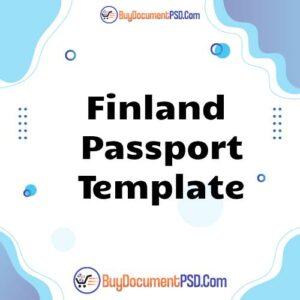 Buy Finland Passport Template