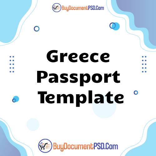 Buy Greece Passport Template