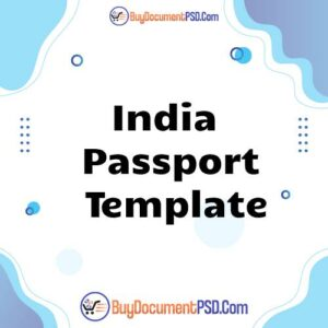 Buy India Passport Template