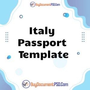 Buy Italy Passport Template