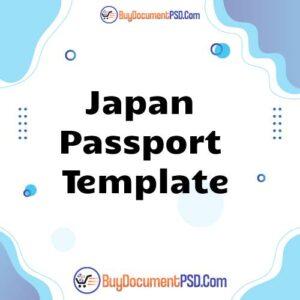 Buy Japan Passport Template