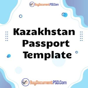 Buy Kazakhstan Passport Template