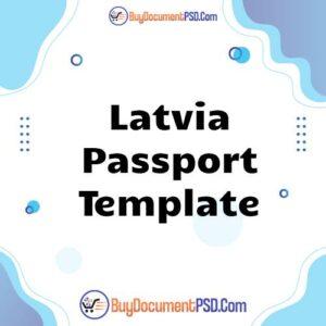 Buy Latvia Passport Template
