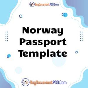 Buy Norway Passport Template