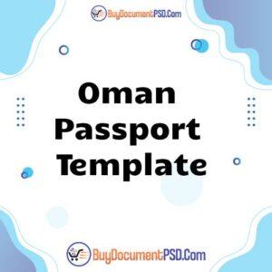 Buy Oman Passport Template