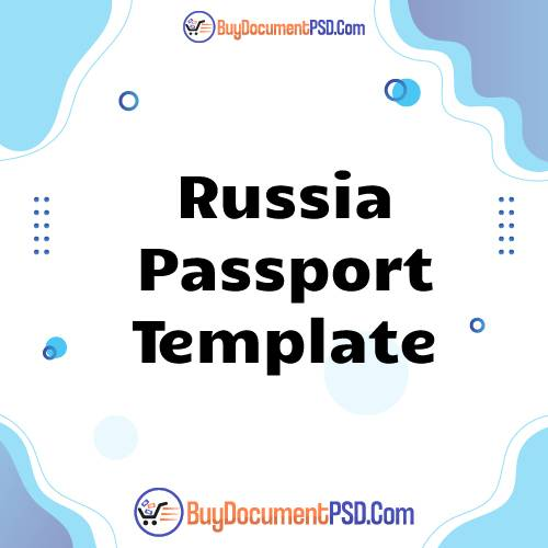 Buy Russia Passport Template