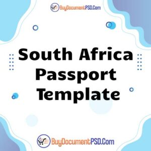 Buy South Africa Passport Template