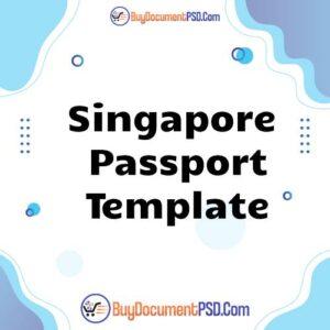 Singapore Passport Template