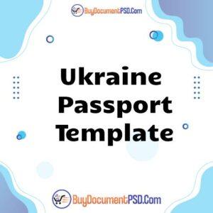 Buy Ukraine Passport Template